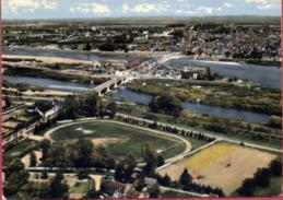 58 LA CHARITE-SUR-LOIRE - Vue Panoramique Aérienne - Le Stade - Le Faubourg De Loire Et La Ville - La Charité Sur Loire