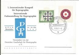 ALLEMAGNE OBLITERATION COMMEMORATIVE DE KÖLN 1963 - [7] République Fédérale