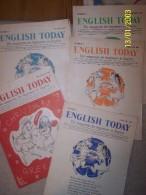 """Magazines """"English Today"""" D'oct, Nov Et Déc 1956 , Et De Janv Févr, Mars Et Mai 1957 (n° 1-2-3-4-5-6 Et 8) - Magazines & Newspapers"""