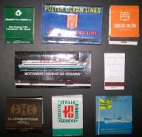 ® URUGUAY: LOTE ´M´ De 8 Cajillas De Fosforos Promocionales (años 1950-60) - Boites D'allumettes