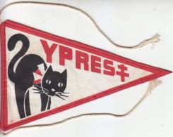 Fanion Ancien, Ypres, Chat Noir, Zwarte Kat, Cat, Drapeau à Accrocher à Scooter, Moto, Vespa, Velo, Solex - Andere