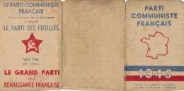 Carte D´adhérent N° 1.066,668 - Parti Communiste Français Année 1945 - Vieux Papiers