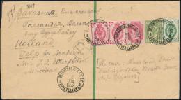 Russia Ukraine 1892 Regd Stationery Wrapper 2 Kop & Add Franking Zvenigorodka Kiev To Velp Netherlands (44_2649) - 1857-1916 Empire