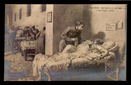 Giuseppe Garibaldi In Hospital Ill Italy Vintage Original Ca1900 POSTCARD CPA AK (W4_2831) - Uomini Politici E Militari