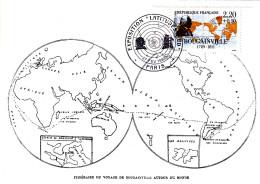 Carte-Maximum FRANCE N° Yvert 2521 (BOUGAINVILLE) Obl Sp Ill Expo Latitude Sud (Ed Combier) - Cartas Máxima
