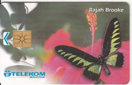 MALAYSIA(chip) - Butterfly, Rajah Brooke, Chip GEM, Used - Malaysia