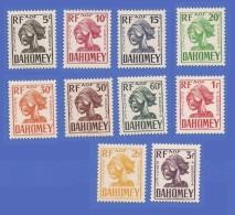 DAHOMEY TAXE SÉRIE COMPLETE 19 à 28 NEUFS ** - Unused Stamps