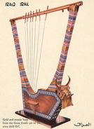 Iraq / Irak: Gold And Mosaic Harp - Iraq