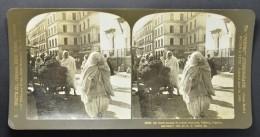 STEREO Algeria, Algiers, An Arab Woman In Street Costume (382) - Stereoscopio