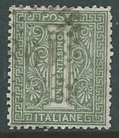 1863-65 REGNO USATO CIFRA 1 CENT - U42-3 - Usati