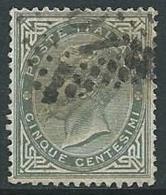 1863-65 REGNO USATO EFFIGIE 5 CENT - U42-2 - 1861-78 Vittorio Emanuele II