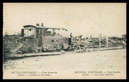 PORTUGAL-«1ª GUERRA MUNDIAL»Sector Portuguez-Zona Devastada-Zelobes-Locomotiva Destruída(Ed.Levy Fils & Cª)carte Postale - Guerra 1914-18