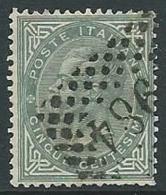 1863-65 REGNO USATO EFFIGIE 5 CENT - U42-10 - Usati
