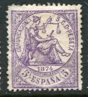 Ed 144(*) 5 C. Violeta Nuevo Sin Goma. - Nuevos