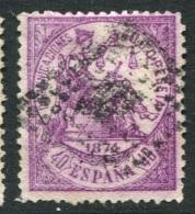 Ed 148 40c. Violeta Usado - 1873-74 Regencia