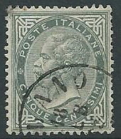 1863-65 REGNO USATO EFFIGIE 5 CENT - U44-8 - Usati