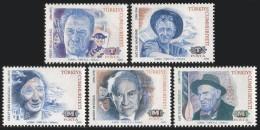TURKEY 1992 (**) - Mi. 2975-79, Famous Turks (1st/4 Issue) - 1921-... République