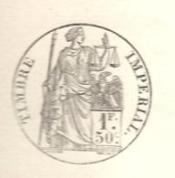 Cotes Du Nord - St Brieuc. Extrait D'acte De Naissance Avec Timbre Impérial - Postmark Collection (Covers)