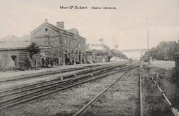MONT-SAINT-GUIBERT.  STATION INTERIEURE. GARE. ANIMATIOn - Mont-Saint-Guibert
