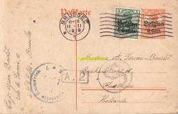 CARTE POSTALE POSTKARTE BRUXELLES FLESSINGUE CENSURE 1918 - Guerre 14-18