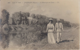 Salon 1909 Roger Jourdain - La Remorque Du Canot - Barche