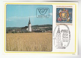 1982 Gfohl AUSTRIA FDC Maximum Card GFOHL , ARMS , DOG  Stamps Cover Church Dogs Heraldic - Maximum Cards