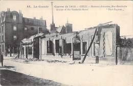 MILITARIA Campagne 1914 - CREIL (60)  Maisons Détruites Rue Gambetta - CPA -  Oise - Guerre 1914-18