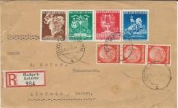 1941 R - Letter Cut.Stuttgart-Kaltental. Stamps Serial - Spring Fair In Vienna.( Motive Art,horses ) - Deutschland