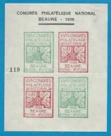 Congrès Philatelique National De Beaune. 1936 - Marcophilie (Lettres)