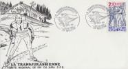 Enveloppe   SKI  De FOND    LA  TRANSJURASSIENNE   MOUTHE   1989 - Skisport