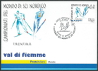 2003 ITALIA CARTOLINA POSTALE FDC MONDIALI DI SCI NORDICO - ED - 6. 1946-.. Repubblica