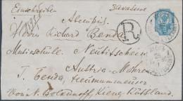 Russia Ukraine 1896 Registered Stationery Envelope 20 Kop Kiev Tsentralnaya To Neutitschein Mähren Austria (44_2653) - 1857-1916 Empire