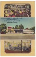 Rout 66, Lebanon Missouri, Union Bus Depot, Cafe And Store Interior View, C1940s Vintage Linen Postcard - Route '66'