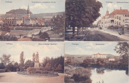 LOT 6 CPA TUTTLINGEN ALLEMAGNE GERMANY  MONUMENTS NEUHAUSERSTRASSE DENKMAL EGLISE KIRCHE RUINE HONBERG KRANKENHAUS - Tuttlingen