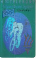 DENMARK - Atlanta 1996 Olympics, Biking(3D Card), Tirage 11000, 08/93, Mint - Danimarca