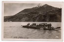 CORPS--1944-- Le Lac Du Sautet Et Le Bac (animée,voiture) ,cpsm 14 X 9  N°44  éd CAP....carte à Siasir ... - Corps