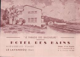 LE LAVANDOU HÔTEL DES BAINS AIGUEBELLE-PLAGE - Le Lavandou