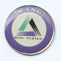 Pin´s  WANG - RISC SERIES - Le Logo - Triangle - Pin Works - F369 - Informatique