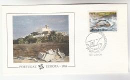 1986 PORTUGAL FLEETWOOD  MIDY ART  Design COVER FDC FISH  Stamps - FDC