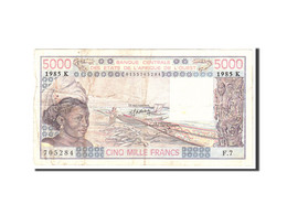West African States, 5000 Francs, 1985, Undated, KM:708Kj, TB - Sénégal