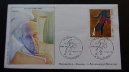 FRANCE FDC Enveloppe 1er Premier Jour Numismatique PEINTRE JEAN ARP 1986 Timbre - FDC