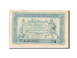 France, 50 Centimes, 1917-1919 Army Treasury, 1917, 1917, KM:M1, SPL, Fayette... - Treasury