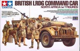 British LRDG Command Car + 7 Figures  ( 1/35 Tamiya ) - Military Vehicles