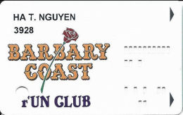 Barbary Coast Casino Las Vegas, NV - Slot Card - Extra Number Printed On Back - Casino Cards
