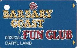 Barbary Coast Casino Las Vegas, NV - Slot Card - Casino Cards