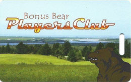 Bear River Casino Loleta CA Slot Card - Cartoon Bear  (BLANK) - Casino Cards