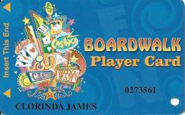 Boardwalk Casino Las Vegas, NV - Slot Card - Casino Cards