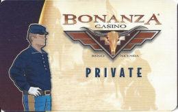Bonanza Casino Reno, NV - Slot Card With Brown Mag Stripe   (BLANK) - Casino Cards