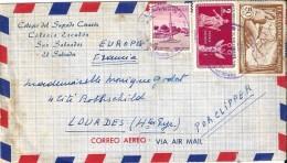 2  Enveloppes  -  Expédiées  Du  SALVADOR   à  Destination  De  LOURDES  ( 65 ) - Amérique Centrale