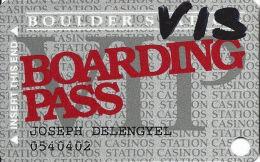Boulder Station Casino Las Vegas, NV - Slot Card @1995 - Casino Cards